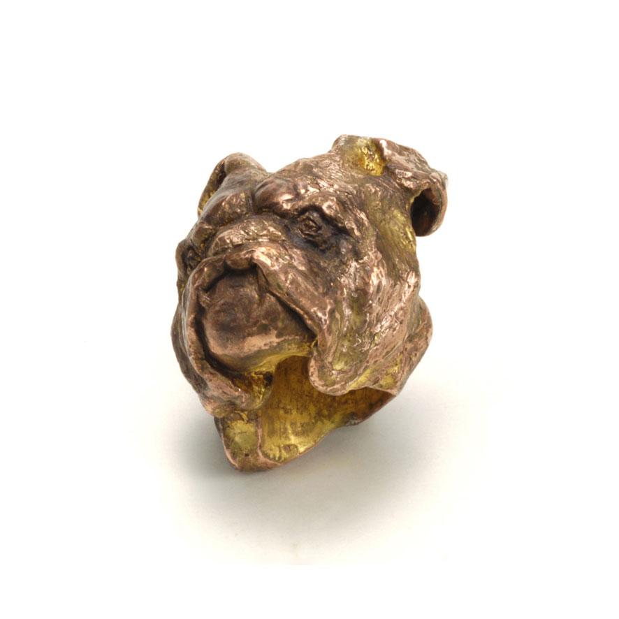 Dogge / Ring / Kupfer & Blattgold / 2009