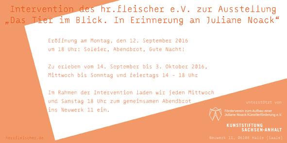 hr.fleischer e.V. in der Kunststiftung des Landes Sachsen-Anhalt